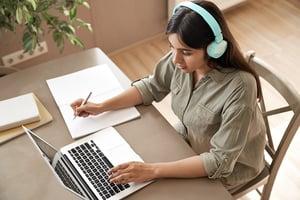 bigstock-Indian-Girl-Student-Wear-Headp-387670792